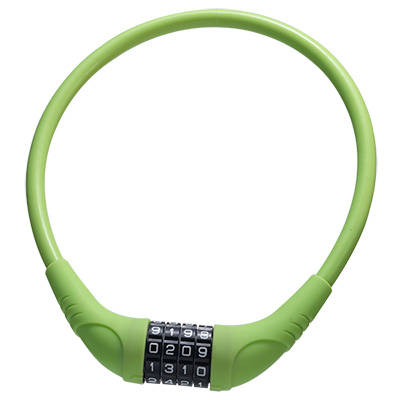 Silicone Overmoulded 4 Digits Combination Cable Lock